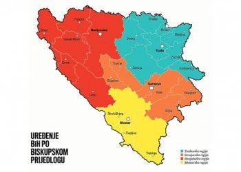 Католички бискупи предлажу укидање Српске и Федерације БиХ и формирање четири регије