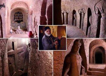 Јерменин Левон Аракелјан издубио у планини цркву која постаје туристичка атракција