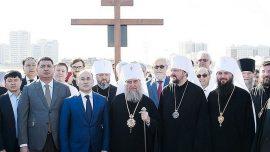 Камен темељац нове цркве постављен је у Нур-Султану, престоници Казахстана
