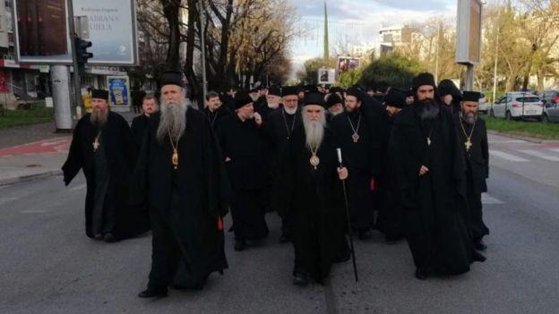 протест свештенства у Црној Гори